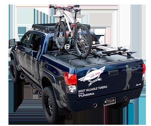 Tonneau Cover With Bike Rack